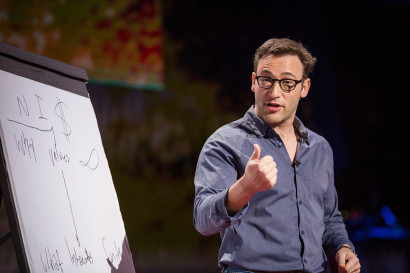 Simon Sinek speaks at TED Talks Live - War and Peace, November 3-4, 2015, The Town Hall, New York, NY. Photo: Ryan Lash/TED