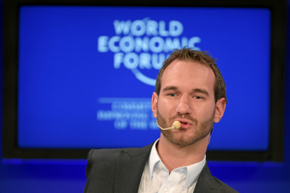 DAVOS/SWITZERLAND, 30JAN11 -  Nick Vujicic, Founder and President, Life Without Limbs, USA is captured during the session 'Inspired for a Lifetime' at the Annual Meeting 2011 of the World Economic Forum in Davos, Switzerland, January 30, 2011.  Copyright by World Economic Forum swiss-image.ch/Photo by Sebastian Derungs